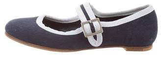 Little Marc Jacobs Girls' Canvas Ballet Flats