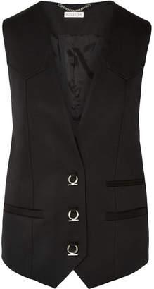 Altuzarra Wallace Wool-blend Twill Vest - Black