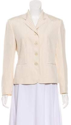 Lauren Ralph Lauren Silk Pinstriped Blazer