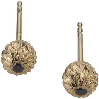 Black Diamond Noritamy Toolbox Sterling Silver Stud Earrings Dipped in 24ct Gold with 1.5 Point