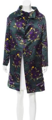 Marni Floral Print Satin Coat