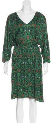 Issa Paisley Print Knee-Length Dress