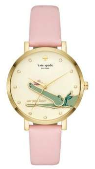 Kate Spade Monterey Leather-Strap Watch