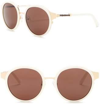 Tory Burch 52mm Round Sunglasses
