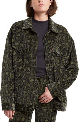 Levi's Limited Camouflage Oversized Trucker Jacket