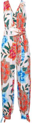 Mara Hoffman - Arcadia Printed Plissé-crepe Jumpsuit - Orange $325 thestylecure.com
