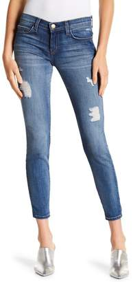 Current/Elliott The Stiletto Cropped Distressed Skinny Jeans