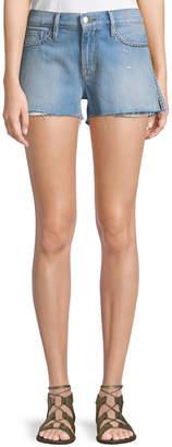 Frame Le Studded Cutoff Denim Shorts
