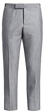 Thom Browne Men's Low Rise Wool& Mohair Trousers