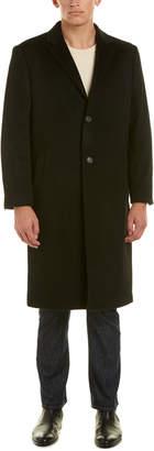 Hart Schaffner Marx Sheffield Wool & Cashmere-Blend Coat