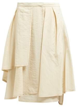 Lemaire Silk Blend Wrap Skirt - Womens - Beige