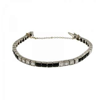 Platinum with Black Onyx & Diamond Bracelet