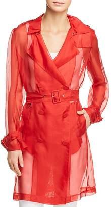 Elie Tahari Natania Sheer Trench Coat - 100% Exclusive
