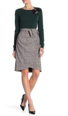Badgley Mischka Herringbone Patterned Skirt