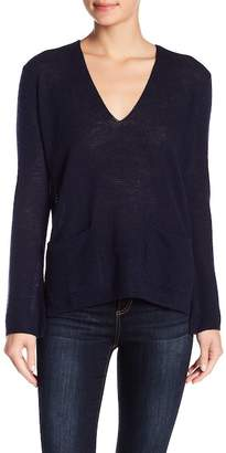 Minnie Rose V-Neck Cashmere Pullover Sweater