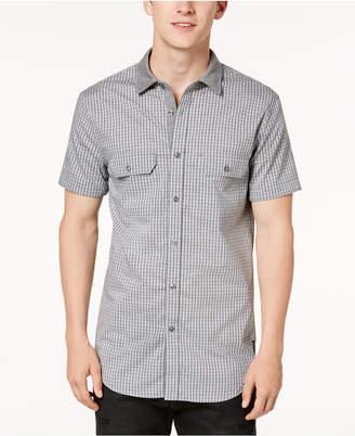 Armani Exchange Men Knit Collar Pocket Shirt
