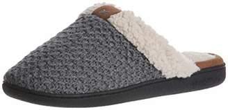 Dearfoams Women's Textured Knit Closed Toe Scuff Slipper