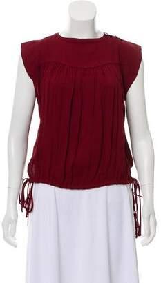 Etoile Isabel Marant Cap Sleeve Drawstring Blouse