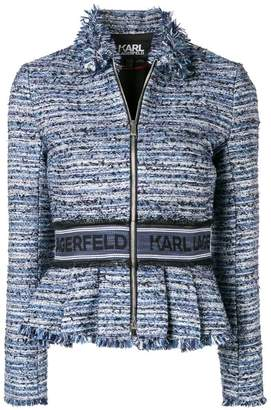 Karl Lagerfeld sparkle bouclé peplum jacket