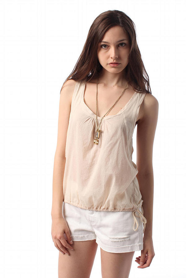 Urban Outfitters Staring at Stars Woven Inset Crochet Back Tank