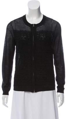 Tory Burch Wool Zip-Up Jacket