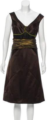Louis Vuitton Silk Midi Dress w/ Tags