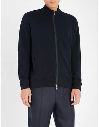 Corneliani Zip-up wool-blend track jacket