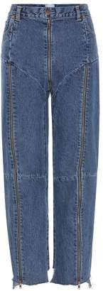 Vetements High-rise distressed jeans