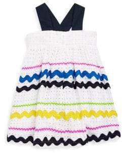 Halabaloo Baby's & Little Girl's Ric Rac Eyelet Bow Dress
