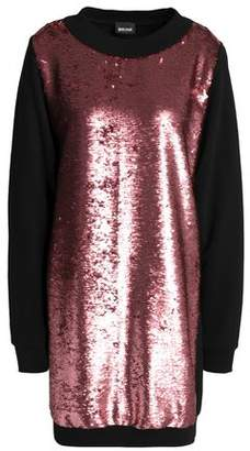 Just Cavalli Paneled Sequined Woven Mini Dress