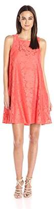 Donna Morgan Women's Sleeveless Tent Lace Dress