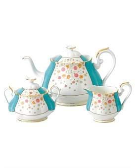 Royal Albert 100 Years 1930 Teapot, Cream & Sugar