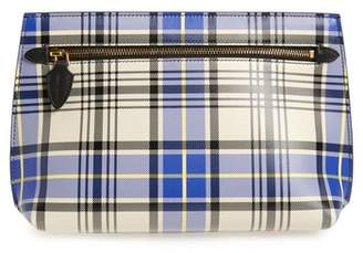 Burberry Tartan Plaid Leather Clutch