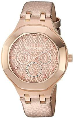 Versus By Versace Women's 'Laguna City' Quartz and Leather Casual Watch
