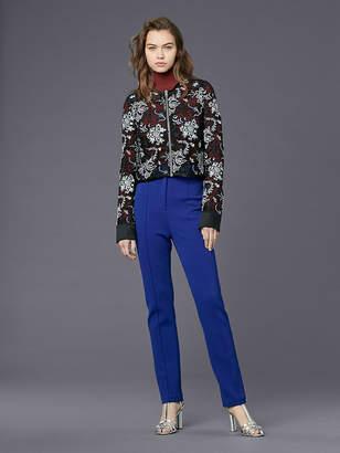 Diane von Furstenberg Zip Front Lace Jacket