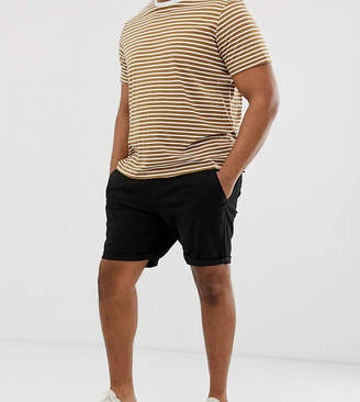 Asos Design DESIGN Plus slim chino shorts in black