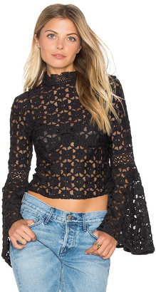 Free People Kiss and Bell Lace Top $168 thestylecure.com