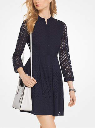 Michael Kors Eyelet Cotton Shirtdress $250 thestylecure.com