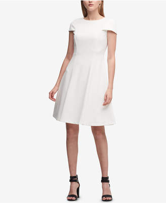 DKNY Scuba Crepe Fit & Flare Dress, Created for Macy's