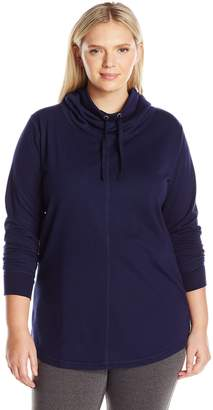 Just My Size Women's Plus French Terry Cowl Neck Tunic