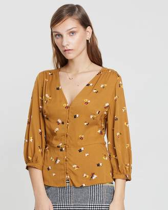 Warehouse Bea Ditsy Floral Top