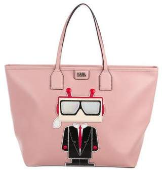 Karl Lagerfeld K/Robot Leather Tote