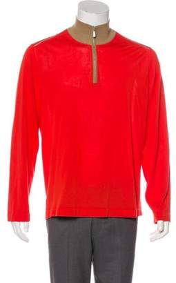 Malo Half-Zip Sweater orange Half-Zip Sweater