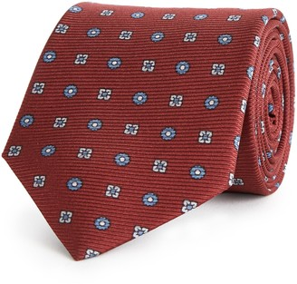 Reiss Noah - Silk Tie in Bordeaux