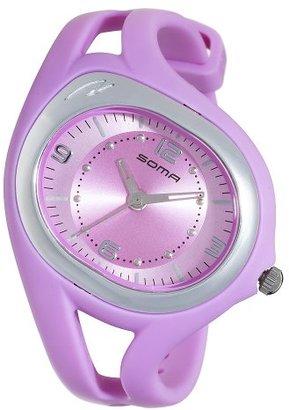 312dca86d0 Soma (ソーマ) - Somaレディースdyk510005 RunOne Sピンクストラップアナログスポーツ腕時計
