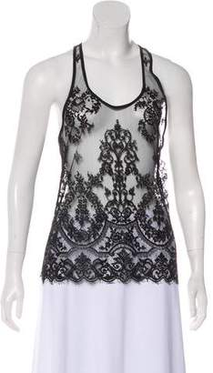 Haider Ackermann Sleeveless Lace Top