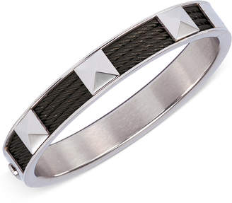 Charriol Unisex Stainless Steel and Black Pvd Cable Bangle Bracelet