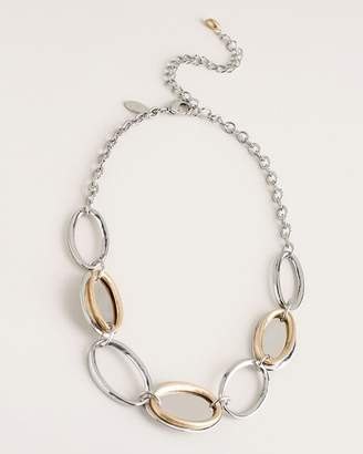 Chico's Chicos Short Mixed-Metal Sleek Collar Necklace