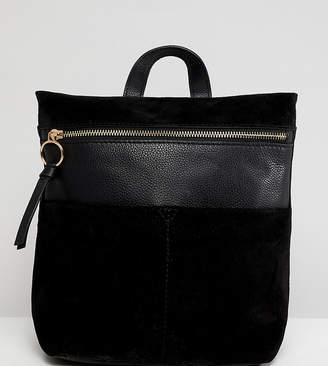 Accessorize mini ziptop leather backpack