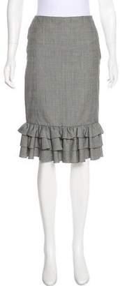 Ralph Lauren Houndstooth Knee-Length Skirt